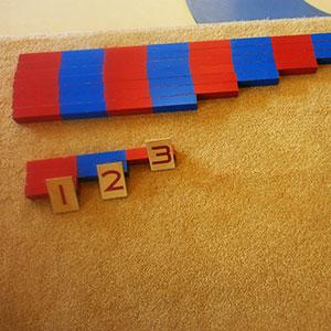 Montessori Sayma Çubukları ve Kartlar