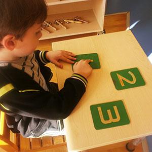 Montessori Yeşil Sayı Kartları